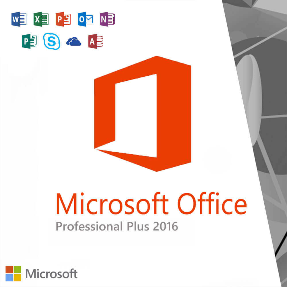Microsoft Office 2016 Professional Plus License Code for Windows 10