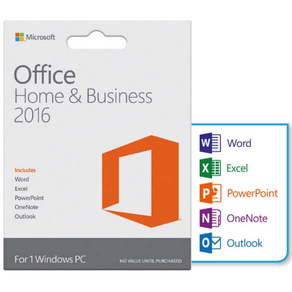 Microsoft Office 2016 Home AND Business License Code Windows 10