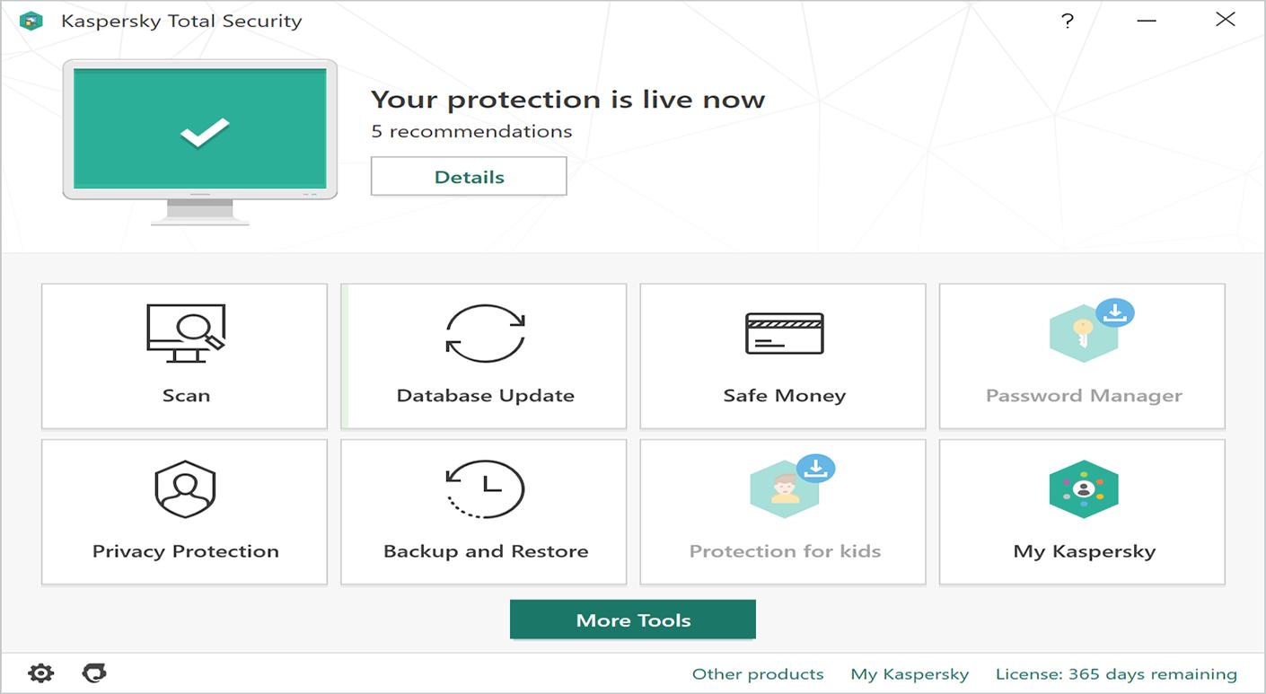 Kaspersky Total Security Antivirus Screenshot