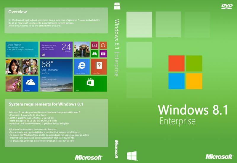 Microsoft Windows 8.1 Enterprise Large Logo